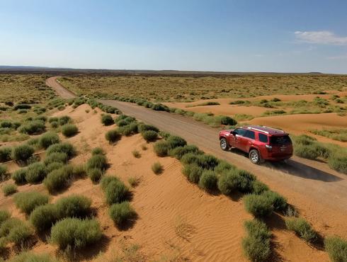 SUV in desert