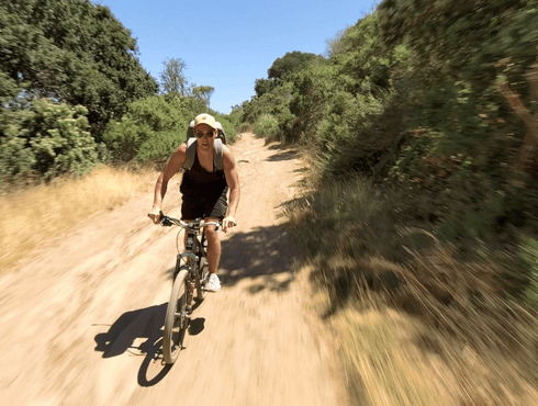 Mountain biking down hill
