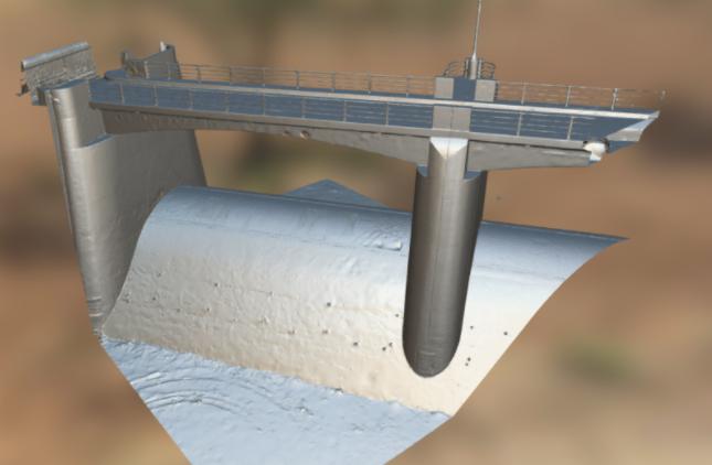 Screenshot from Sepulveda Dam 3D Model