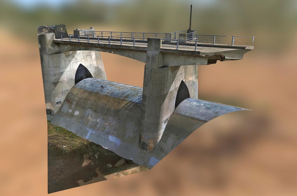 Sepulveda Dam 3D Model
