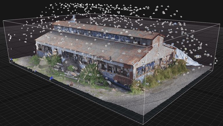 skydio 3d scan warehouse building
