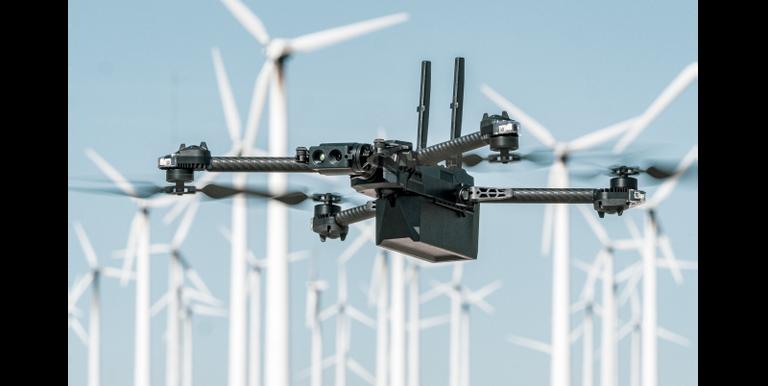 Skydio x2 flying windmill