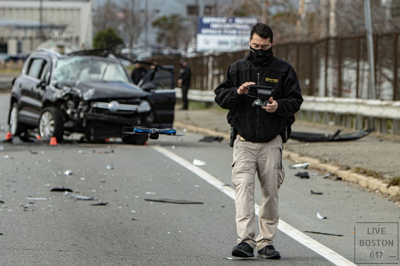 boston police flying skydio drone