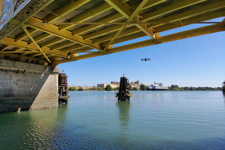 drone bridge inspection skydio x2 autonomous