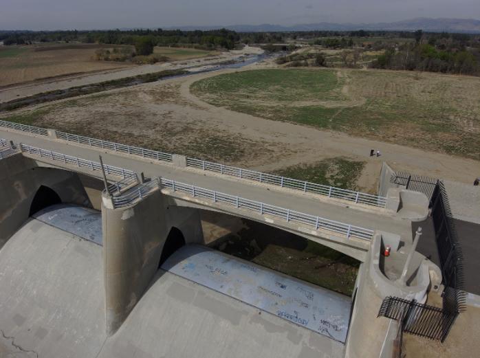 Drone photo of the Sepulveda Dam