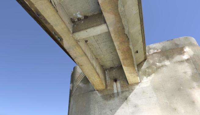 Drone Photo of Underside of Sepulveda Dam