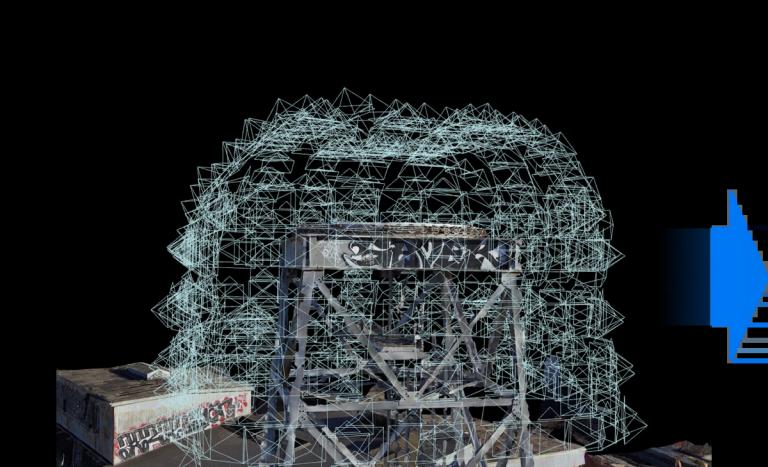 skydio 3d scan image cloud crane base