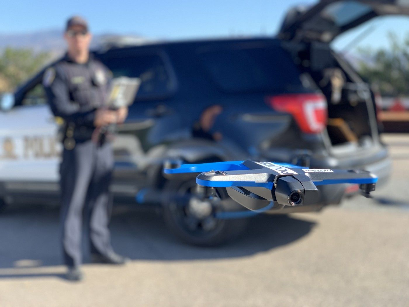 skydio autonomous drone police