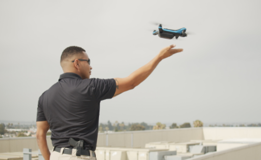 Skydio 2 police hand launch