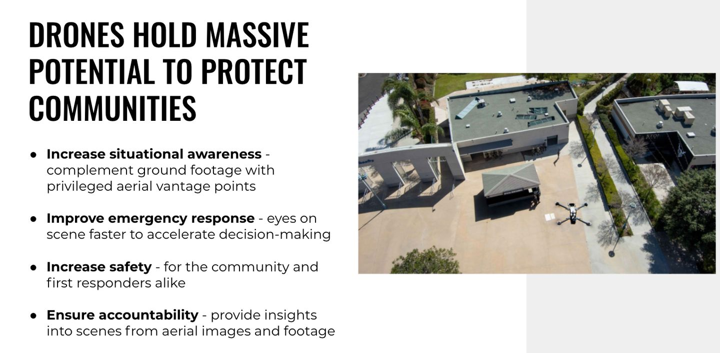 police drones protecting communities