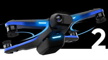 skydio 2 drone flying