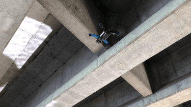 Skydio 2 inspecting a bridge