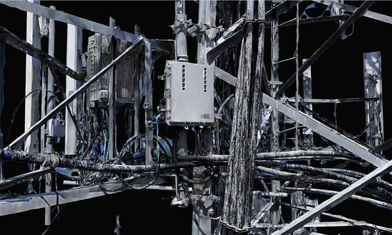 Close-Up 3D Model Screenshot of the Cell Tower