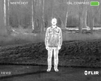 Whitehot thermal palette screen