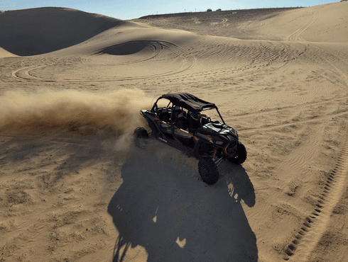 Dune buggy in the desert