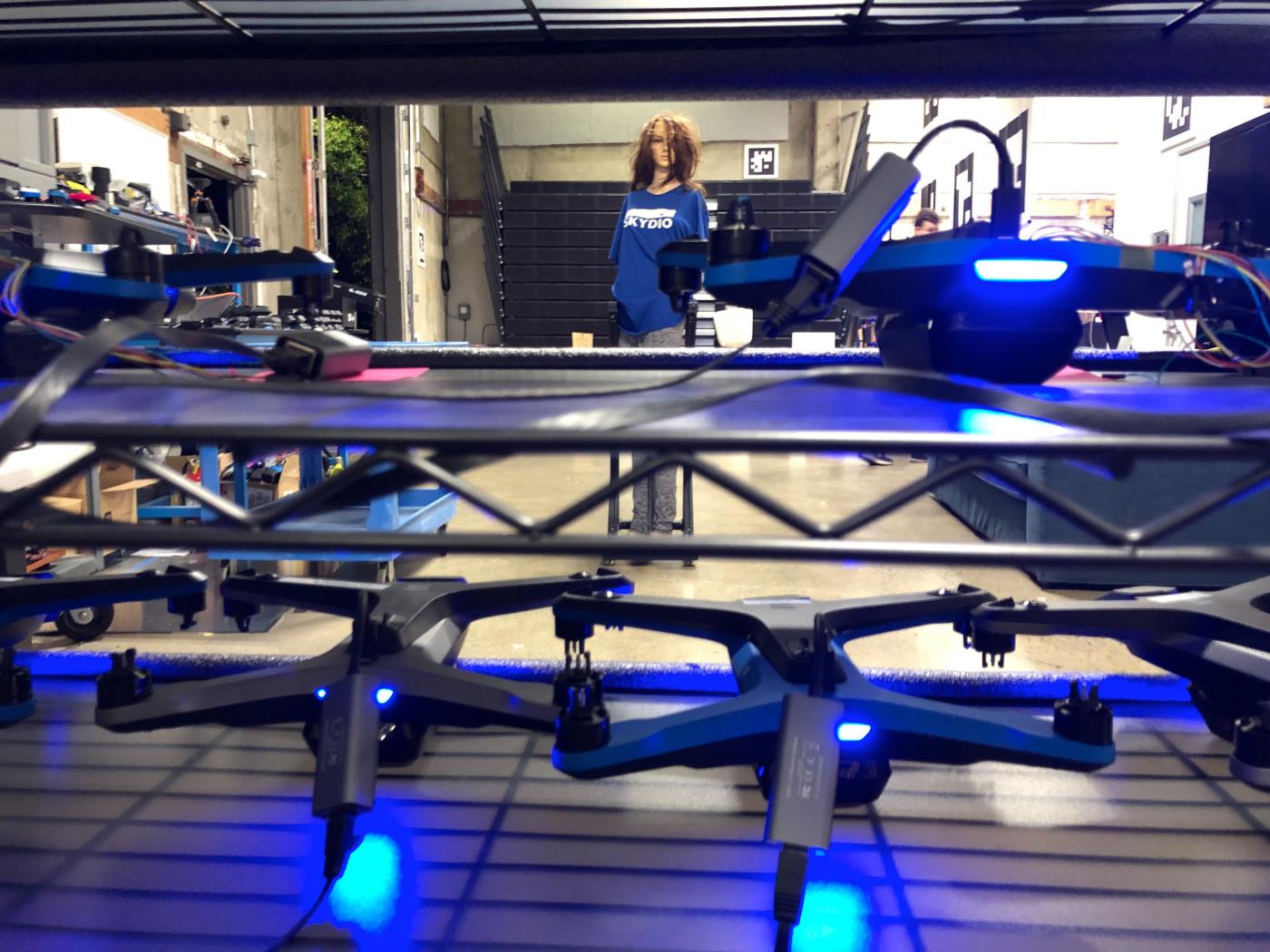 testing skydio drone