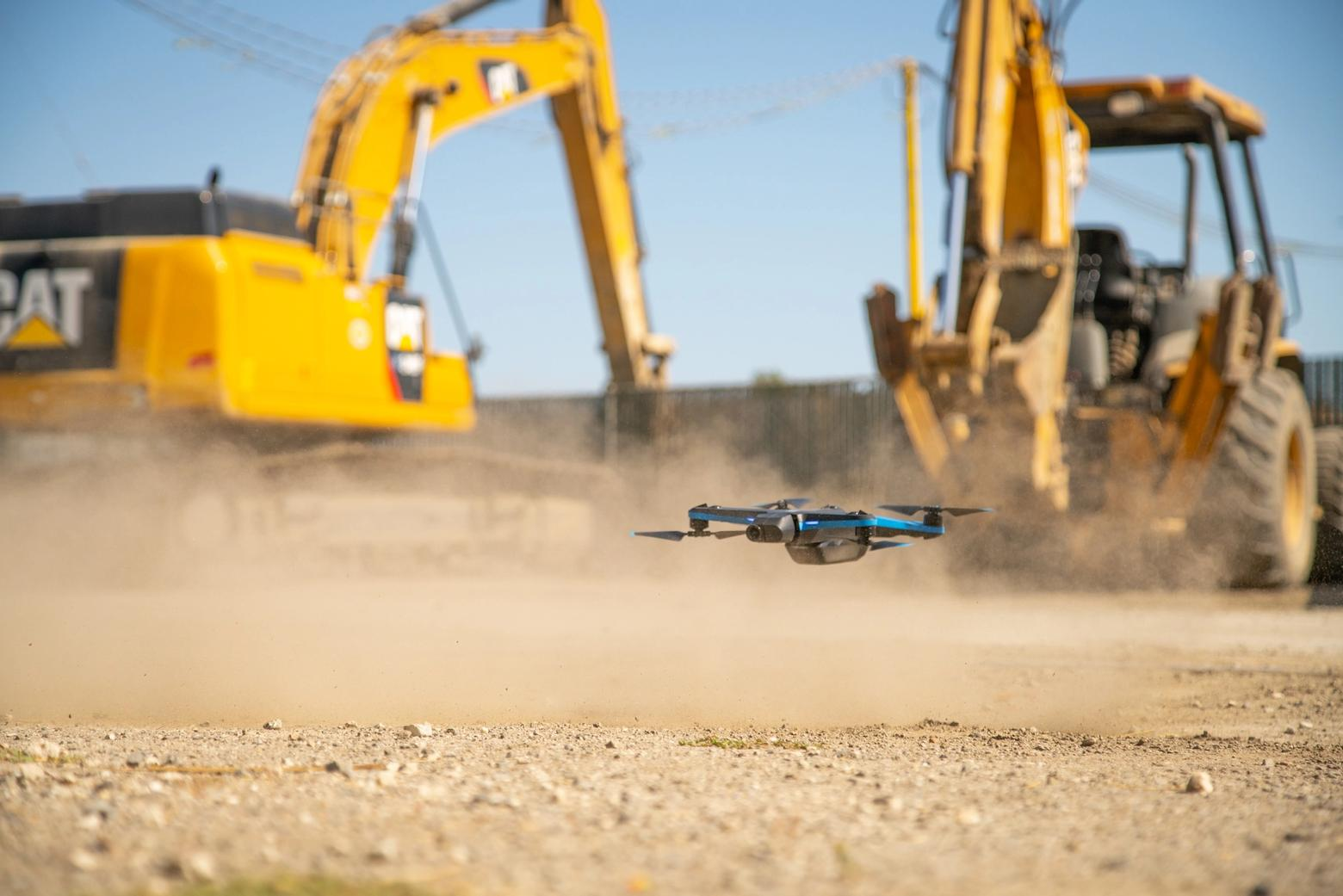 Skydio autonomous drones supplement BIM, CAD, and manual inspection on construction sites.