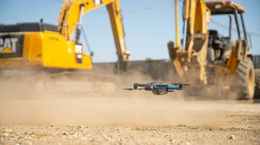 Skydio autonomous drones supplement BIM, CAD, and manual inspection on construction sites.