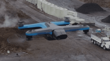 skydio drone s2 over construction site
