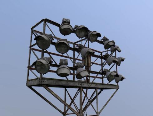 3d scan stadium lights