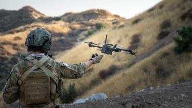 Launching Skydio X2D Drone