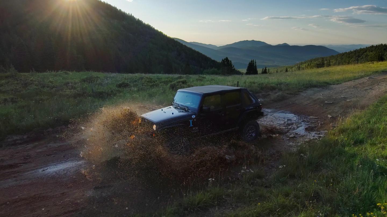 Jeep through water Skydio 2