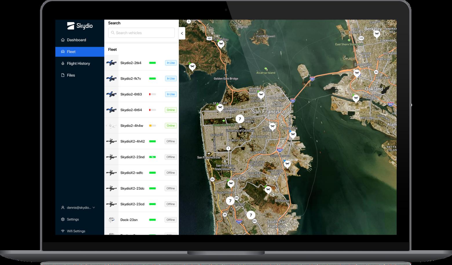 Skydio cloud interface