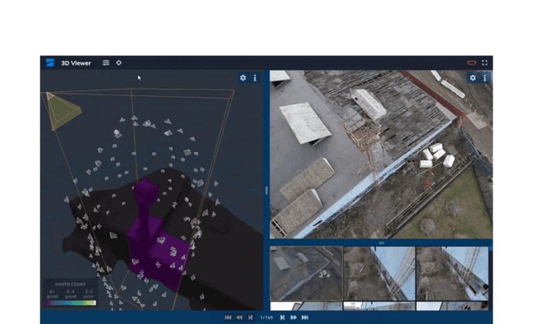 skydio 3d scan view images after