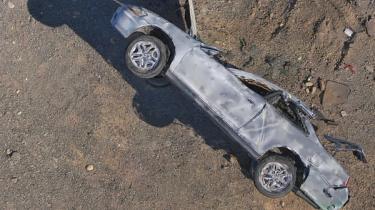Skydio drones, 3D Scan, Car wreck inspection