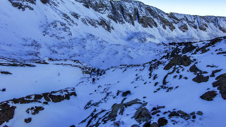 Skydio 2 snow climb