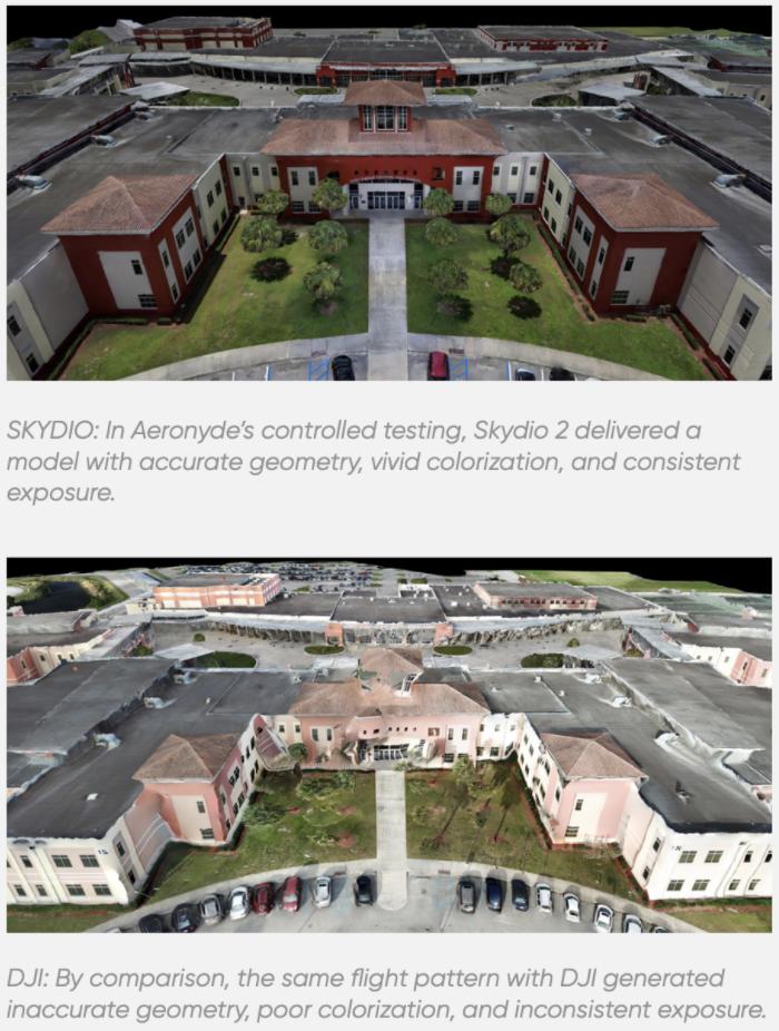 DJI vs. Skydio 3D Modeling Comparison