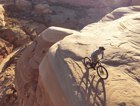Mountain biking in the desert