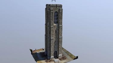 Skydio, 3D-Scan, Drone, Bell-Tower, Frederick-MD-Bell-Tower, Structure-Scan