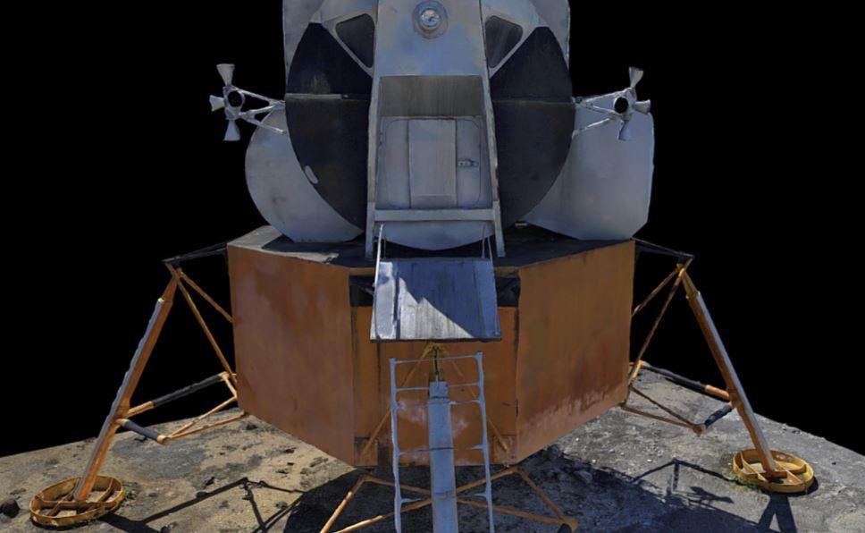 Front View of the Lunar Lander 3D Model