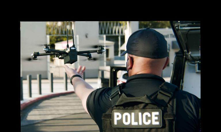 skydio x2 police hand launch
