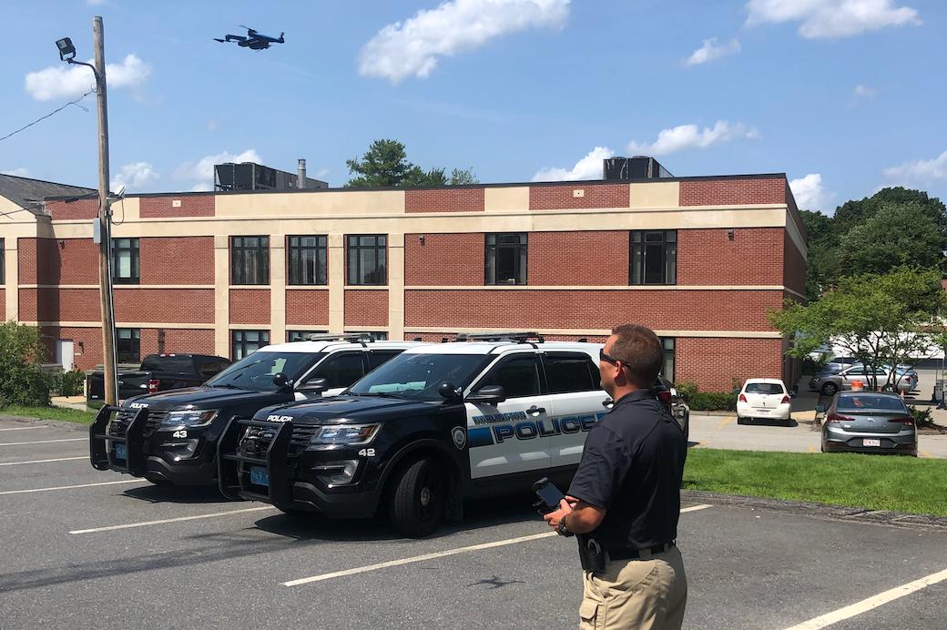 Sage flying skydio 2 police drone