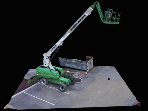 3d scan bucket crane