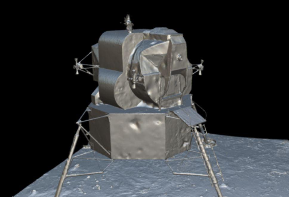 Sketchfab Matcap View of the Lunar Lander 3D Model