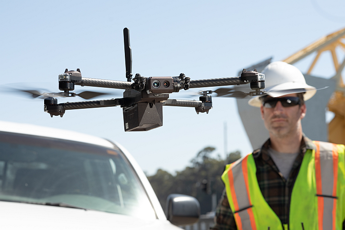 Skydio X2 used for equipment inspection