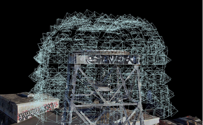 3d data capture of crane mast