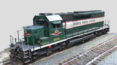 Aberdeen-Carolina-and-Western-Railway-Train-Engine, Train-Engine, Skydio, 3D-Scan, Drones, Inspection-Scan, Inspection