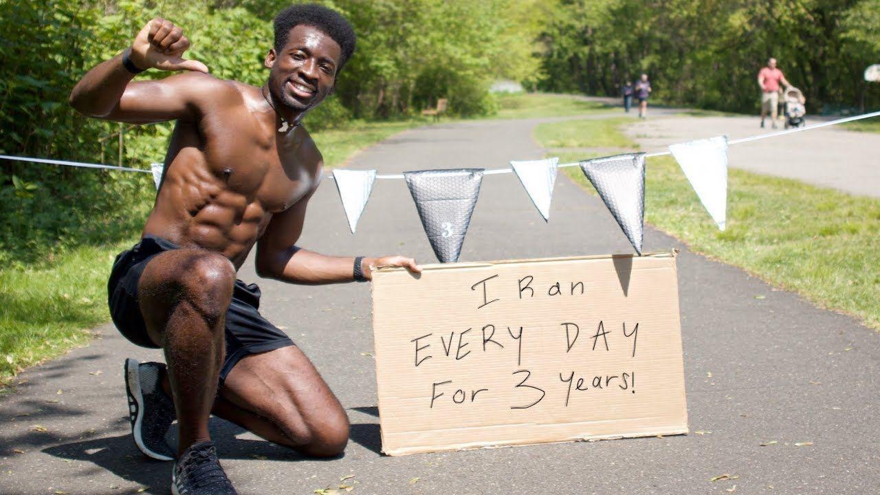 Hellah Sidibe after 1095 days running consecutively