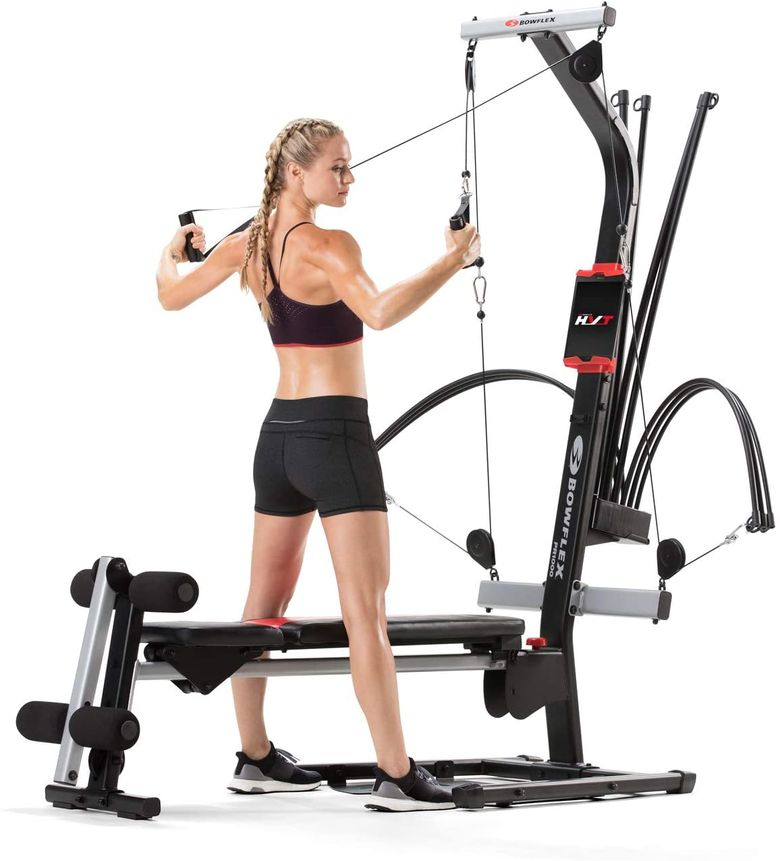 The Bowflex PR1000 is one of our top recommendations for compact home exercise machines