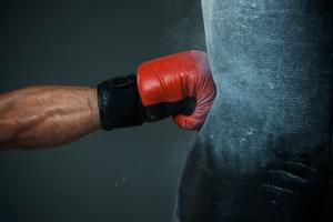 Fist punching bag designed for beginning boxers