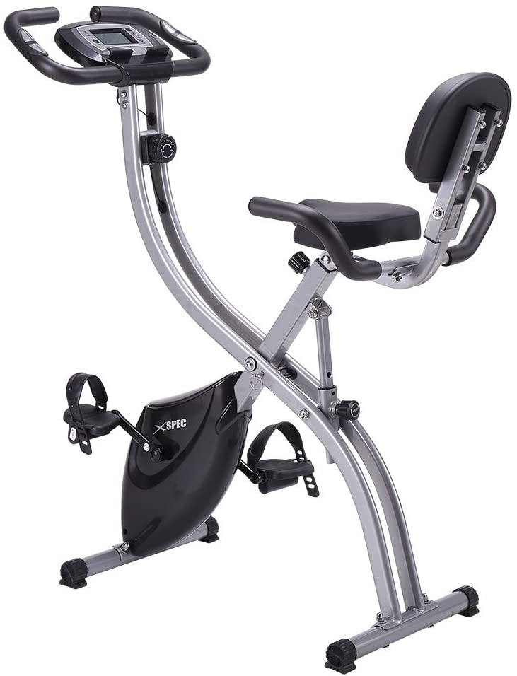 The Xspec exercise bike can work both in upright and recumbent or reclined position.