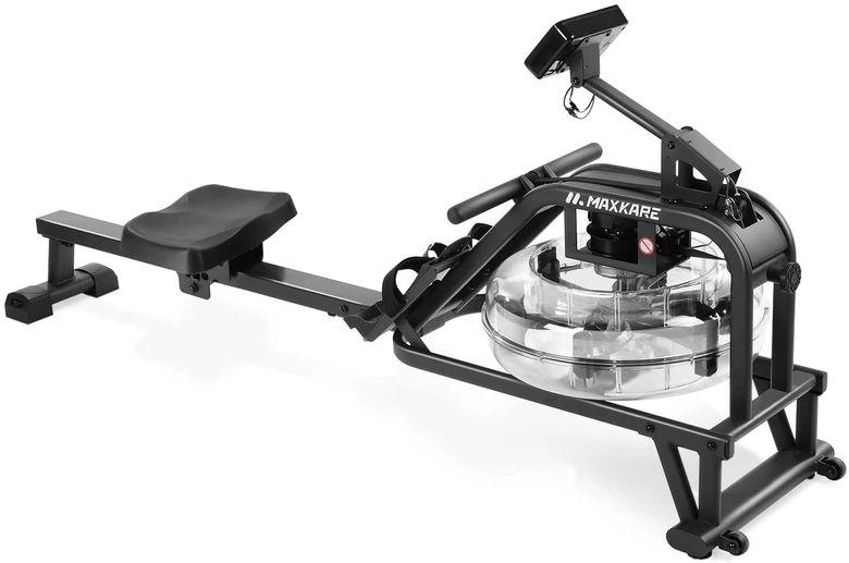 MaxKare Water Rowing Machine seen from the front