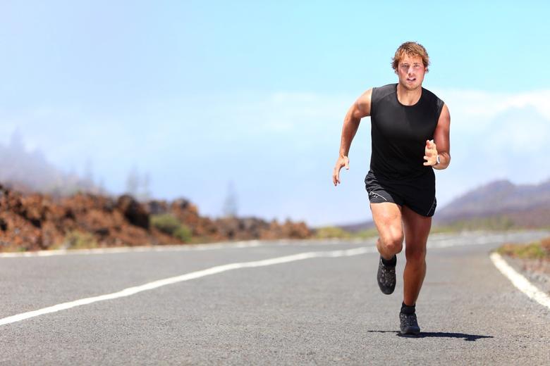 Man doing cardio training