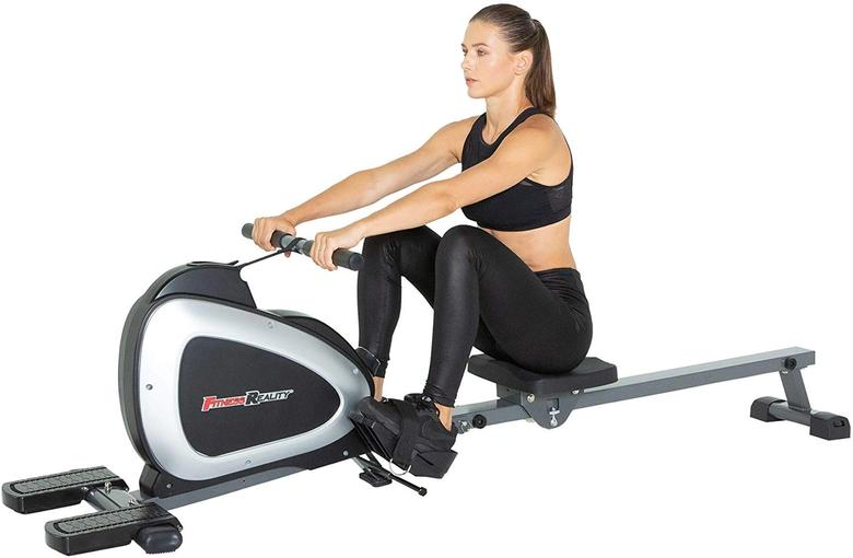 Fitness Reality 1000 Plus foldable rowing machine with magnetic resistance