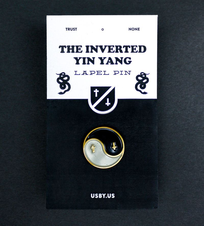 Inverted Yin Yang Pin