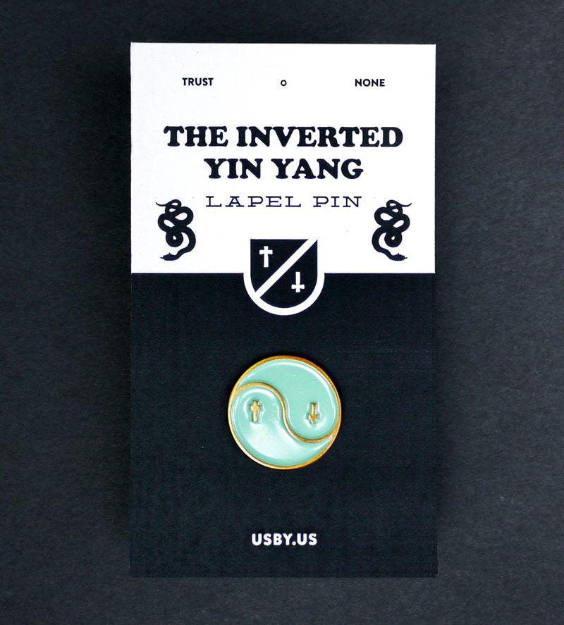Inverted Yin Yang Pin